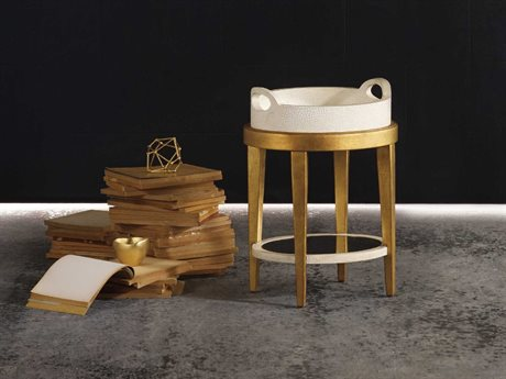 Hooker Furniture Melange Gold 18''L x 15''W Oval Glided Accent End Table