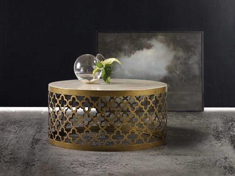Hooker Furniture Melange Gold 42'' Wide Round Arcada Cocktail Table