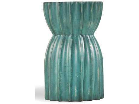 Hooker Furniture Melange Greens 15'' Wide Round Starling Pedestal Table
