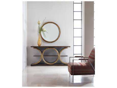 Hooker Furniture Melange Gold Presidio Console Table with Wall Mirror