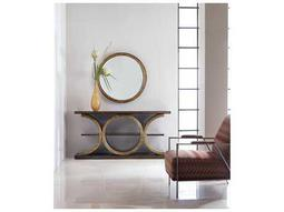 Melange Gold Presidio Console Table with Wall Mirror