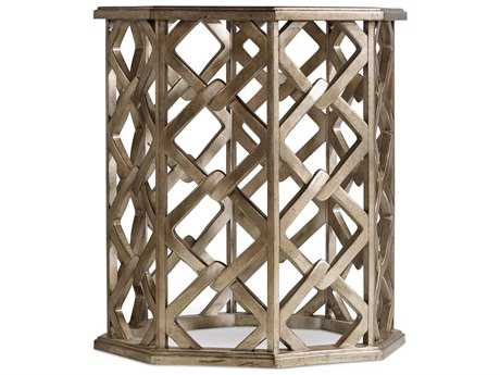 Hooker Furniture Melange Silver 22''L x 22''W Octagon Nico End Table HOO63850271