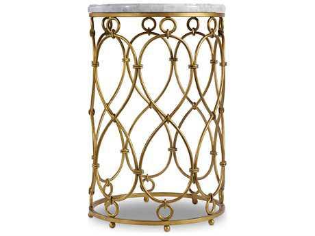 Hooker Furniture Melange Gold 18'' Wide Round Spencer Accent End Table