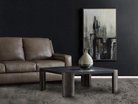 Hooker Furniture Melange Black 44'' Wide Square Shiloh Cocktail Table