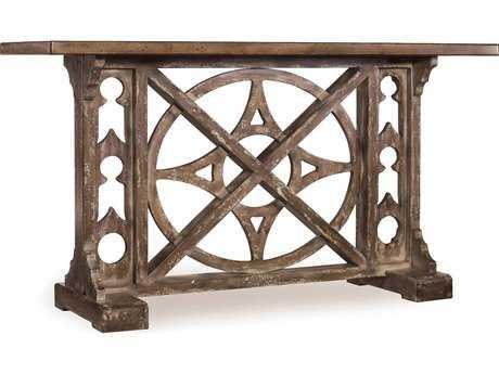 Hooker Furniture Melange Medium Wood 59''L x 19''W Rectangular Rafferty Console Table