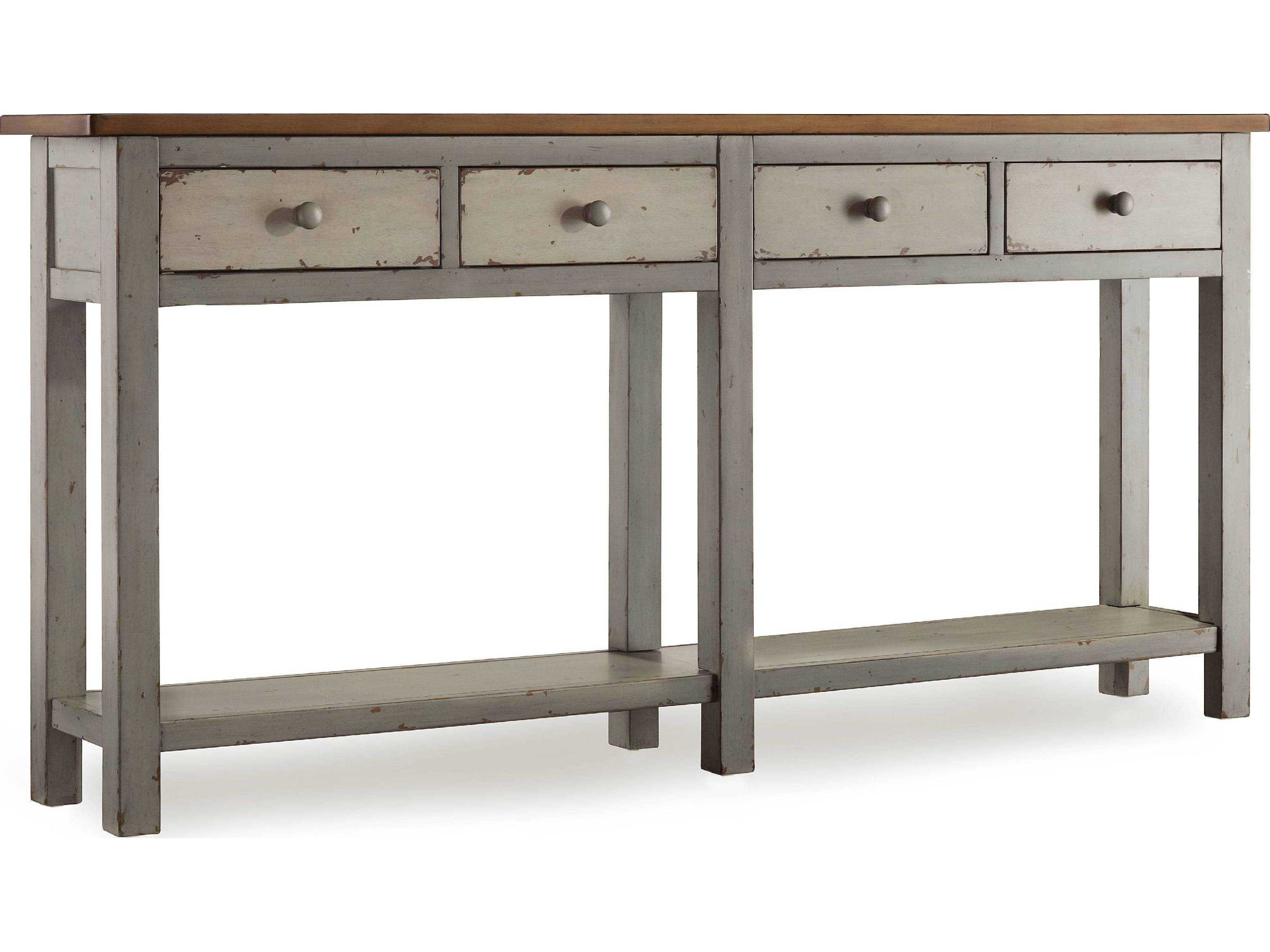 Hooker Furniture Melange Rustic Gray with Cherry 72 L x