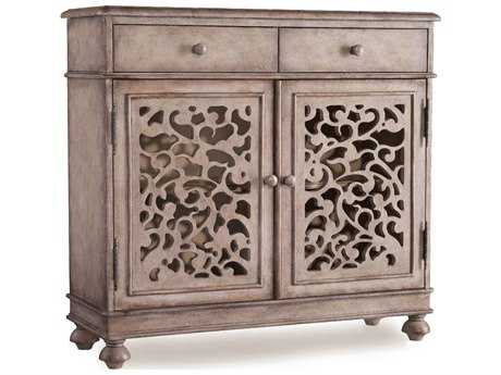 Hooker Furniture Melange Light Wood 37''L x 13''W Rectangular Filigree Hall Console Table