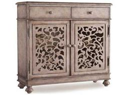 Melange Light Wood 37''L x 13''W Rectangular Filigree Hall Console Table