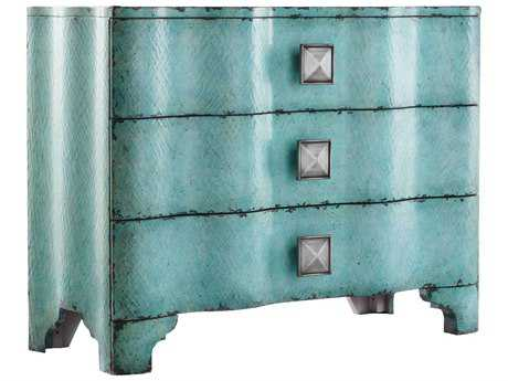 Hooker Furniture Melange Turquoise Crackle 44''W x 18''D Accent Chest