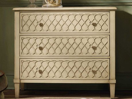 Hooker Furniture Melange White, Cream & Beige 40''W x 20''D Raised Lattice Front Accent Chest