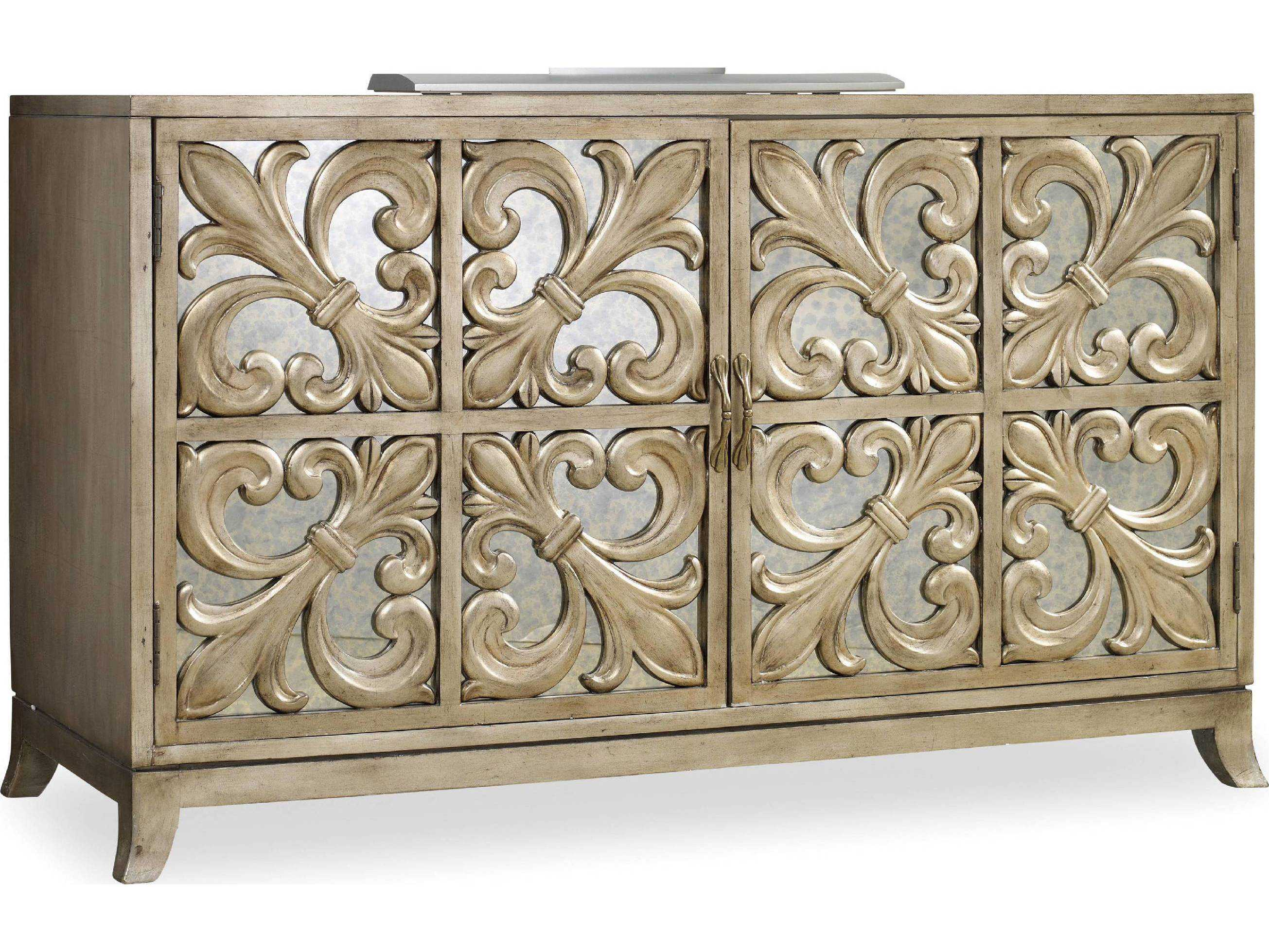 Hooker furniture melange gold 56 39 39 l x 22 39 39 w rectangular for Sideboard flur