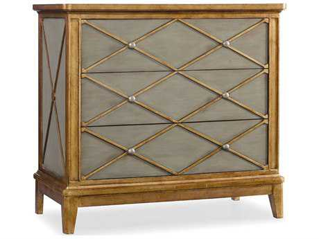 Hooker Furniture Melange Soft Muted Green with Gold Trim 42''W x 20''D Paxton Accent Chest