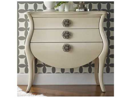 Hooker Furniture Melange White, Cream & Beige 35''W x 18''D Pippa Bombe Accent Chest