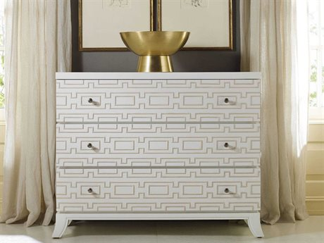 Hooker Furniture Melange Brillant White 44''W x 19''D Descanso Accent Chest