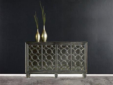 Hooker Furniture Melange Black 58''L x 19''W Rectangular Declan Credenza Buffet