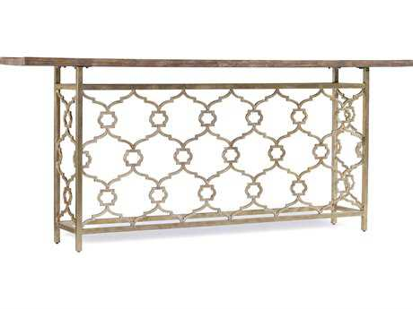 Hooker Furniture Melange Silver 82''L x 14''W Rectangular Landon Hall Console Table