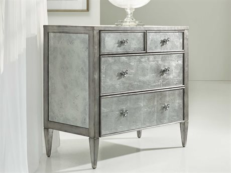 Hooker Furniture Melange Silver 38''W x 20''D Urbane Mirrored Accent Chest