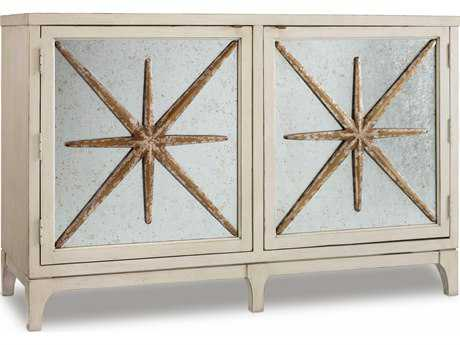 Hooker Furniture Melange White, Cream & Beige 54''L x 20''W Rectangular Etoile Buffet