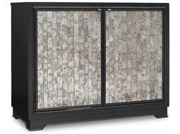 Hooker Furniture Melange Dark Wood 40''W x 19''D Jett Cut Glass Accent Chest