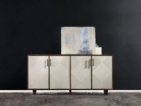 Hooker Furniture Melange Medium Wood 70''L x 19''W Rectangular Dekker Credenza Buffet