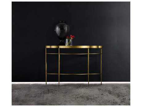 Hooker Furniture Melange Gold 52''L x 19''W Demilune Caria Console Table