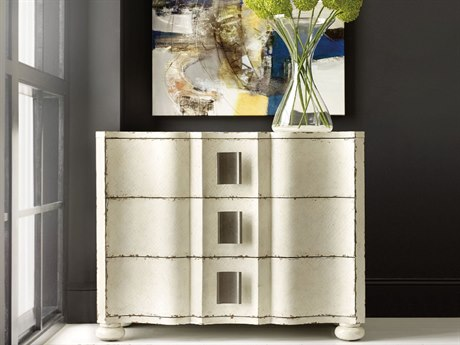 Hooker Furniture Melange White 42''W x 19''D Sunday Accent Chest Cabinet