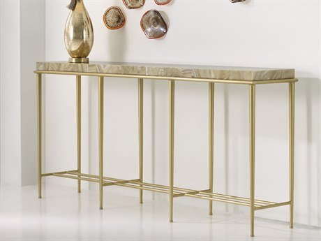 Hooker Furniture Melange Gold 72''L x 15''W Rectangular Essie Console Table
