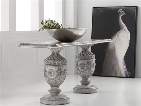 Hooker Furniture Melange Gray 86''L x 24''W Rectangular Holly Urn Console Table