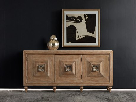 Hooker Furniture Melange Light Wood 80''L x 20''W Rectangular Paramount Credenza Buffet
