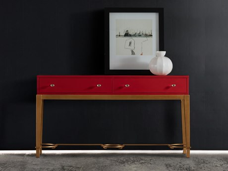 Hooker Furniture Melange Lady in Red 65''L x 17''W Rectangular Console Table