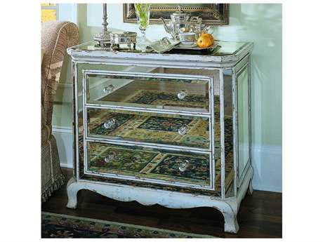 Hooker Furniture Mirrored & Antique Parchment 36''W x 20''D French Mirror Accent Chest
