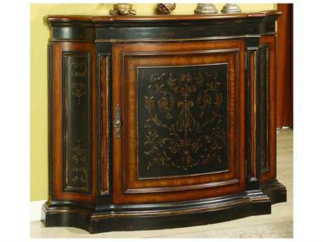 Hooker Furniture Vicenza Black with Gold Accent 52''L x 15''W Demilune Tall Waisted Console Table