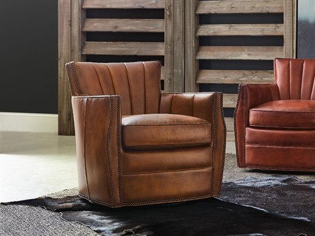 Hooker Furniture Carson Checkmate Queen Swivel Club Chair