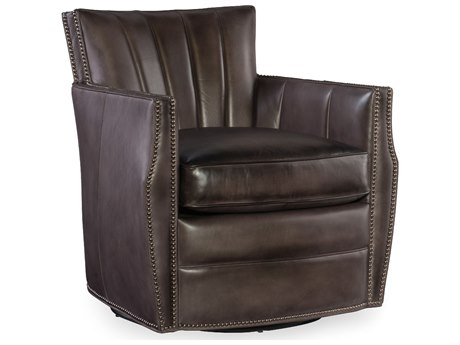 ... Hooker Furniture Carson Checkmate Bishop Swivel Club Chair