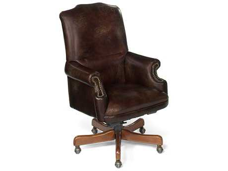 Hooker Furniture Appomattox Campaign Medium Wood Executive Swivel Tilt Chair