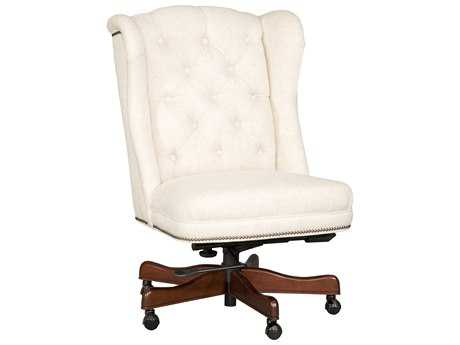 Hooker Furniture Chateau Linen Dark Wood Executive Swivel Chair