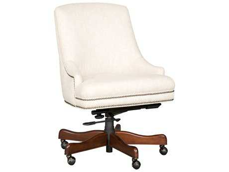 Hooker Furniture Chateau Linen Dark Wood Executive Swivel Tilt Chair