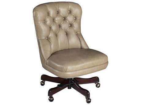 Hooker Furniture Empyrean Tweed Dark Wood Executive Swivel Tilt Chair