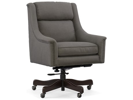 Hooker Furniture Pietra Evere Graphite with Dark Wood Executive Chair