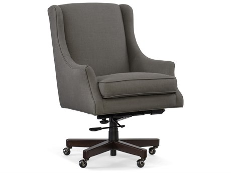 Hooker Furniture Shelley Evere Graphite with Dark Wood Executive Chair
