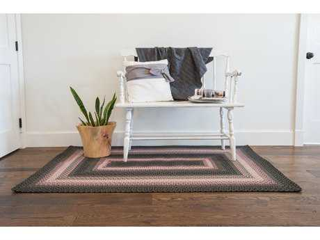 Homespice Decor Cotton Braided Oleander Grey Rectangular Area Rug