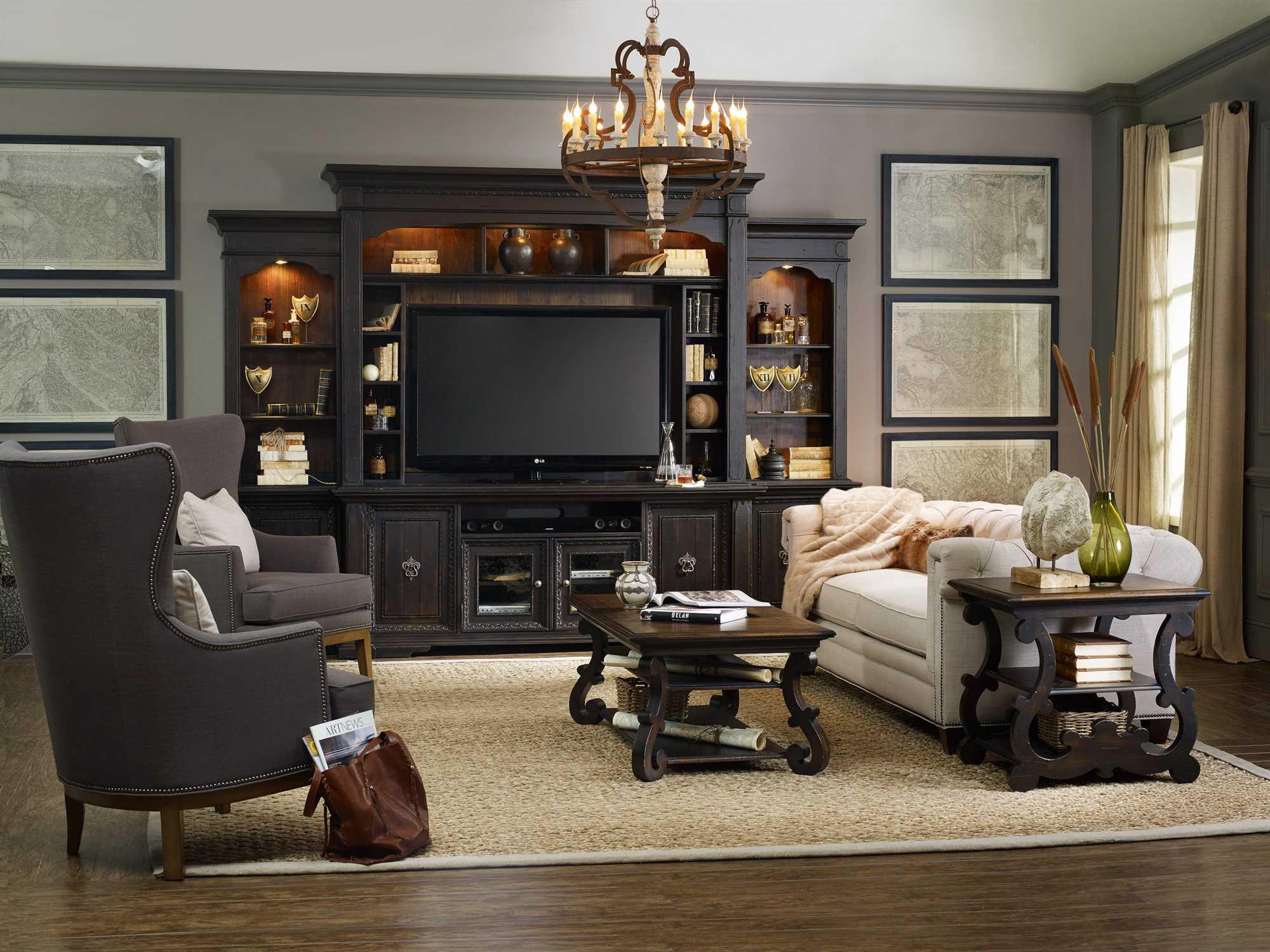 Hooker furniture linosa living room set hooss19503010set Entertainment living room furniture