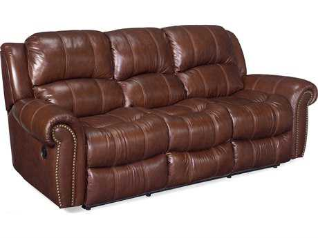 Hooker Furniture Cognac Sofa (with 2 Recliner)