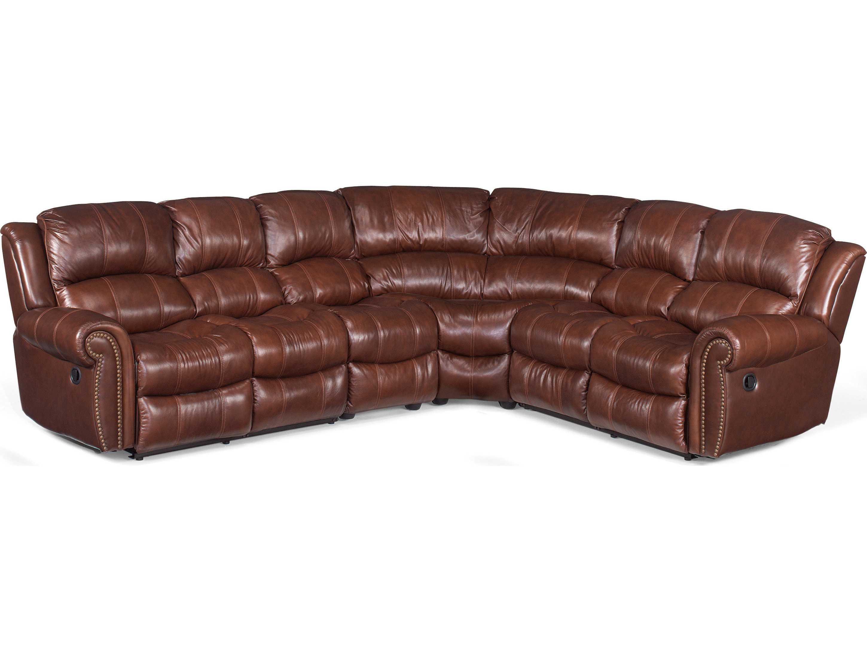 Hooker Furniture Cognac 4 Piece Sectional Sofa Hooss601sc087