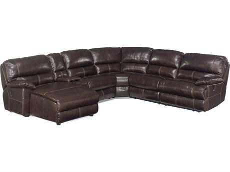 Hooker Furniture Espresso 6-Piece Sectional with Left Hand Facing Chaise Sectional Sofa