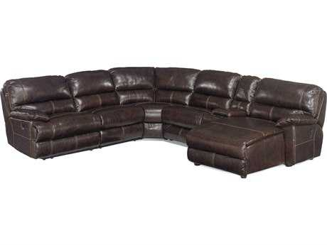 Hooker Furniture Espresso 6-Piece Sectional with Right Hand Facing Chaise Sectional Sofa