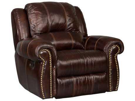 Hooker Furniture Saddle Brown Glider Recliner Chair