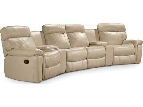 Hooker Furniture Taupe Motion Six Piece Home Theater Group Sectional Sofa