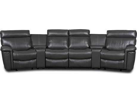 Hooker Furniture Gray Motion Six Piece Home Theater Group Sectional Sofa
