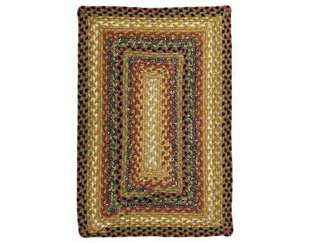 Homespice Decor Cotton Braided Peppercorn Yellow Area Rug